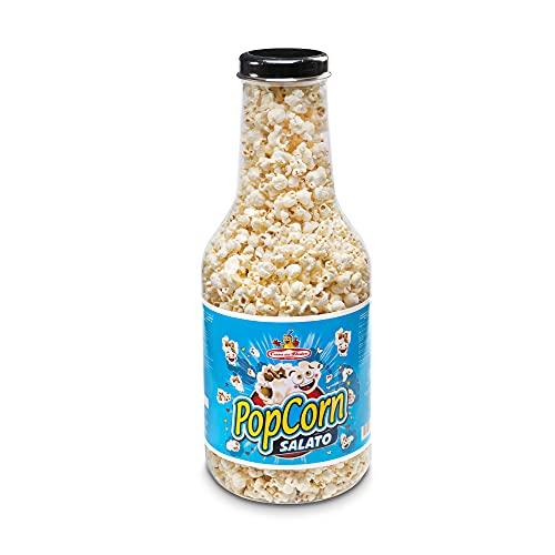 CASA DEL DOLCE Bottiglia Pop Corn 180 gr, Pop Corn dal Gusto Salato, Senza Lattosio, Chiusura con Sleeve, Made in Italy, Idee Regalo per Compleanni e Feste