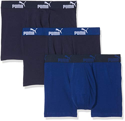 PUMA Herren Promo Lot de 3 Boxer Badehose, Blau (Blue 056), L (3er Pack)