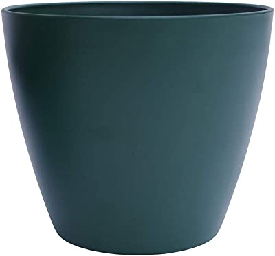 """The Your Choice Garden Patio and Indoor Garden 8"""" Resin Planter Pot for Growing Plants and Herbs. 8"""" Planter Pot, Green"""