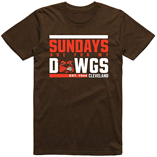 INKpressionists Cleveland Football Fans - Sundays are for My Dawgs Est. 1944 - Classic Dri-Power T-Shirt (Chocolate, L)