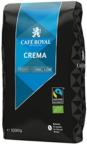 Café Royal Crema Bio Fairtrade Max Havelaar Professional Line Bohnenkaffee, 1er Pack (1 x 1 kg)
