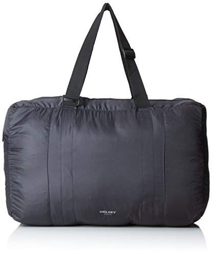 DeLSEY Paris – Bolsa de Viaje Plegable, 37 cm, 21 L, Color Negro