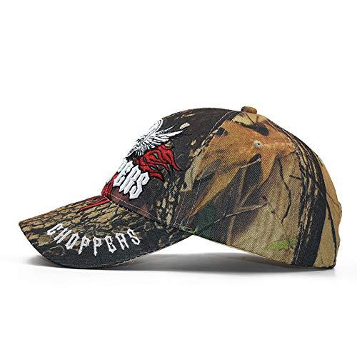Baseball Kappe Snapback Cap HutHerren Baumwolle Camouflage Bestickte Schädelkopf Baseball Cap, Casual Cuff Cap, Hip Hop Dad Skully Cap