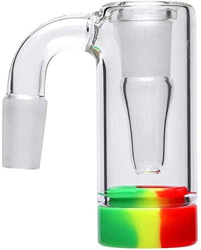 Fire Kirin Posacenere in vetro con rubinetto in silicone colorato, accessorio per bong di vetro, 14 mm (camouflaggio)