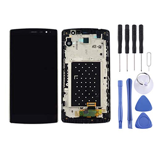 LCD Screen and Digitizer Full Assembly with Frame for LG G4 Beat / G4 Mini Replacement Part (Black) (Color : Black)