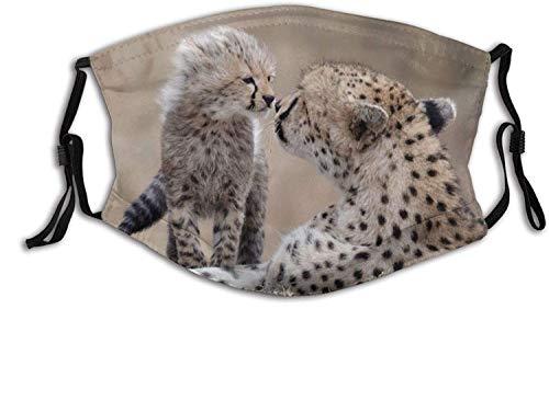 Keyboard cover Gesichtsschutz Mundschutz Cheetah Baby Animal Predator Spielen Sie Custom Nasenschutz Wiederverwendbar Waschbar Gesichts Schals Mit 2 Filtern