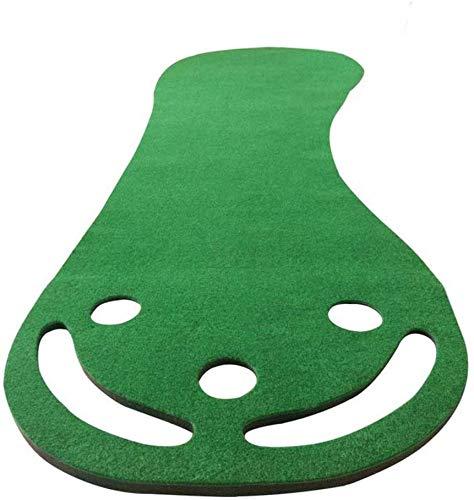 ZHEYANG / Formación Exterior Golf Holder Interior de la práctica del Golf de Interior casero Manta Oficina Putt Práctica Manta práctica Putt pie Grande Pendiente Golf Mat (Color : Green)