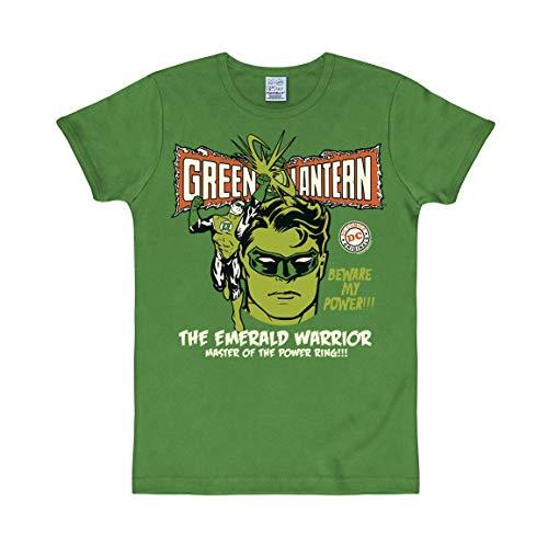 Logoshirt - DC Comics - Green Lantern - Énergie - Slimfit T-Shirt - Vert - Design Original sous Licence, Taille XS