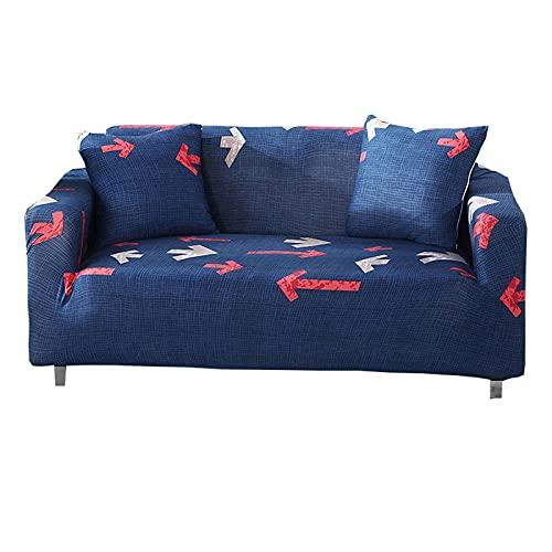 ZHFEL Impreso Funda de Sofá,Funda elástica para sofá con Funda de Almohada de 2 Piezas Protector para Muebles AntiArañazos Lavable Spandex Cubre Sofa para Sala Dormitorio-1 Plaza(35'-55')-G