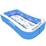 Aquadoo Family Swimming Inflatable Pool,118' X 72' X 22' Full-Sized PVC Material Inflatable Lounge Pool for Baby, Kids, Adults Blow up Kiddie Pool for Family Outdoor Garden Backyard
