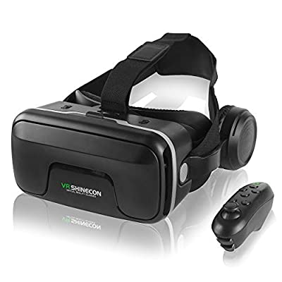 VR Headset with Remote Control,3D Virtual Reality Glasses Compatible with iPhone and Android Phones?Adjustable VR Glasses for 4.7-6.53 inch Mobile Phones?it is Your Best Gift for Children and Adults.