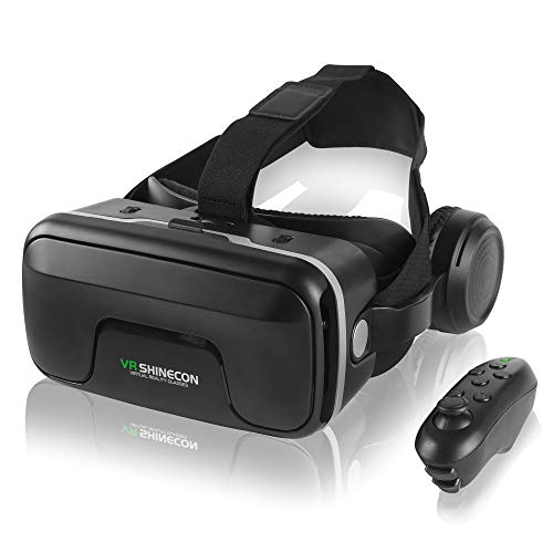 VR Headset with Remote Control,3D Virtual Reality Glasses Compatible with iPhone and Android Phones,Adjustable VR Glasses for 4.7-6.53 inch Mobile Phones,it is Your Best Gift for Children and Adults.