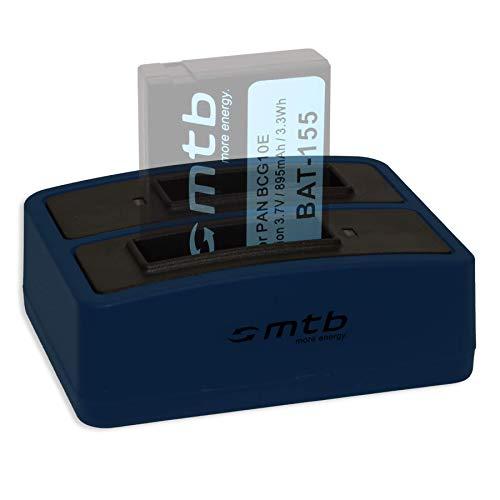 Cargador Doble (USB) para DMW-BCG10(E) / Panasonic Lumix DMC-TZ10, TZ18, TZ20, TZ25,...