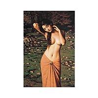キャンバスに印刷古典的なセミヌードの女性キャンバスに油絵ポスターとプリントリビングルームの家の装飾のための壁の芸術の写真40x50cmフレームなし