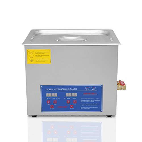 Ultraschallreinigungsgerät 10L Ultraschall-Reinigungsgerät mit Heizung Digitale Timer Ultraschallreiniger für Brillen Schmuck Zahnprothesen Münzen usw (10 L) (10 L)