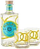 Malfy Gin con Limone Geschenkset mit 2 Gin Tonic Tumbler (1 x 0.7 l) -