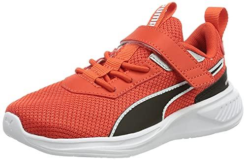 PUMA Scorch Runner Mesh Ac Ps Sneaker, White Grenadine Black, 34 EU