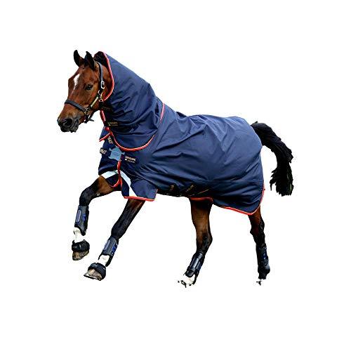 Horseware Amigo Bravo 12 Lite Disc 150g Regendecke Dark Navy/Red & Blue (155)