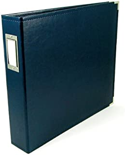 8.5 x 11-inch Classic Leather 3-Ring Album by We R Memory Keepers   Navy, includes 5 page protectors