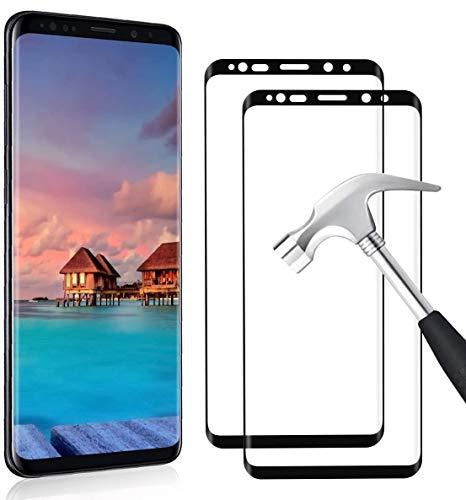 YIEASY 2 Pezzi Vetro Temperato per Samsung Galaxy S9 Plus/S9+ Pellicola Protettiva Durezza 9H Anti-Graffo Alta Definizione Senza Bolle Protezione Facile da Pulire Vetro Proteggi Schermo per S9 Plus