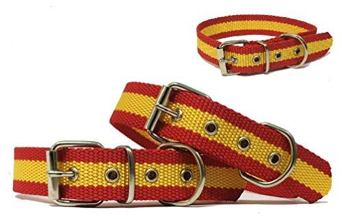 N/a. Collar para Perro Bandera DE ESPAÑA 45 CM- Accesorio DE Perro EN Nailon (45 CM) - Disponible EN Varias Medidas.