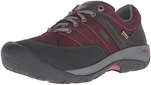 KEEN Women's Presidio Sport Mesh Waterproof Shoe, Zinfandel, 7.5 M US