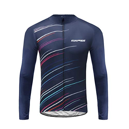 UGLYFROG Sports Hombre Invierno Térmico Fleece Cheers for Being Deportes y Aire Libre Maillot Manga Largo de Ciclismo Large