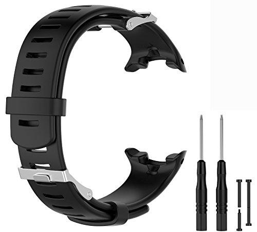 WEINISITE Silicona Ajustable Reemplazo Pulsera para Polar Suunto D4 / D4i Novo wacth Reloj (Negro)