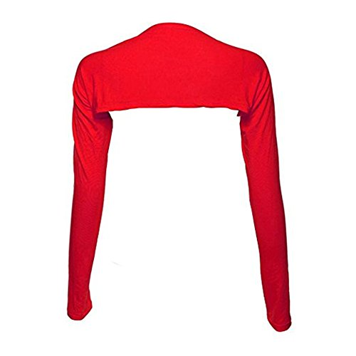 Bolero Shrugs for Women Long Sleeve Arm Sleeves Hijab Accessories One Size (Red)