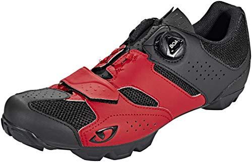 Giro Cylinder, Zapatos de Bicicleta de montaña Hombre, Multicolor (Dark Red/Black 5), 43 EU