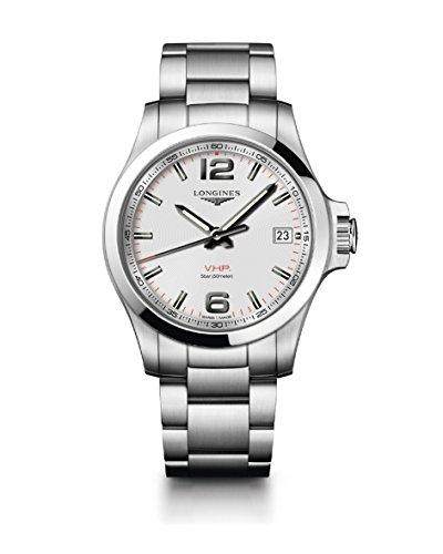 [ロンジン] 腕時計 コンクエスト V.H.P. クォーツ パーペチュアルカレンダー L3.716.4.76.6 メンズ 正規輸...