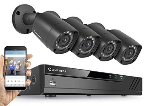 Amcrest Full-HD 1080P 8CH Video Security System w/ Four 2.0 MP (1920TVL) Outdoor IP67 Bullet...