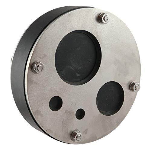 WITTKOWARE 150mm Mauerdurchführung für Kabel oder Rohr, 4-Fach (7/11 / 35/52 mm), Edelstahl V2A / EPDM