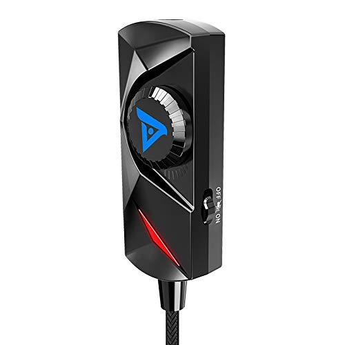 Audio Game Computer Sound Card Free Drive, USB Soundkarte extern,Equalizer - Steuerung eines Audioplayers - schwarz