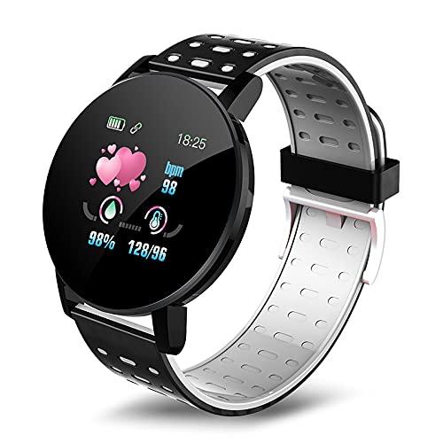 STARMOON Reloj inteligente para hombre, reloj inteligente para Android IP67, resistente al agua, con pantalla HD 1.44, monitor de ritmo cardíaco, podómetro, monitor de sueño