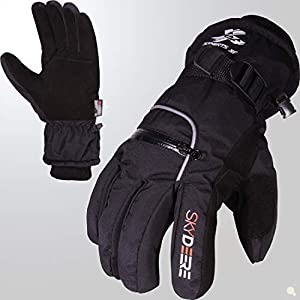 Skydeer 3m Scotchgard 40 Waterproof Windproof Genuine Deerskin Suede Leather Ski Gloves