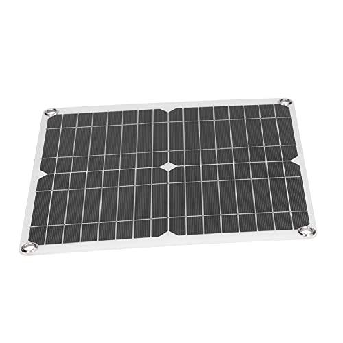 Eosnow Panel Solar, Placa De Carga Solar Panel Solar Flexible De Silicio Monocristalino Ampliamente Utilizado para Vehículos Recreativos, Barcos, Aviones, Satélites, Estaciones Espaciales
