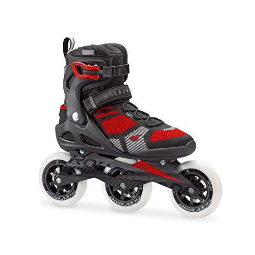 Rollerblade Herren MACROBLADE 110 3WD Inline Fitness Skate, schwarz/Rot, 45