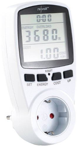 revolt Stromverbrauchsmesser: Digitaler Energiekostenmesser mit XXL Jumbo Display, bis 3.680 Watt (Energiemonitor)