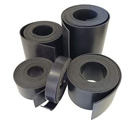 Strips 1//16 Rolls Neoprene Rubber Sheet .062 Thick x 1 Wide x 100 Long Solid Rubber