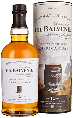 Balvenie The 12 Years Old The Sweet Toast of AMERICAN OAK Whisky (1 x 0.7 L)