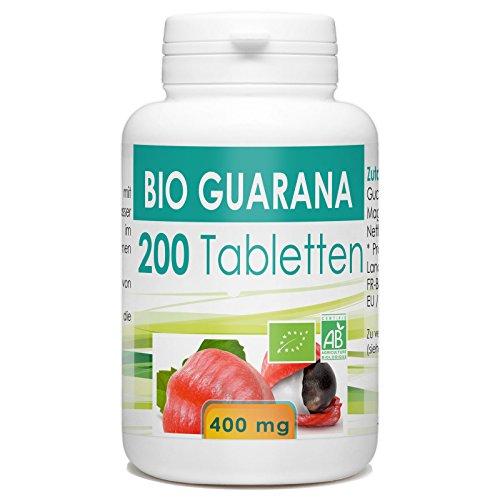 Bio Guarana 400mg - 200 Tabletten