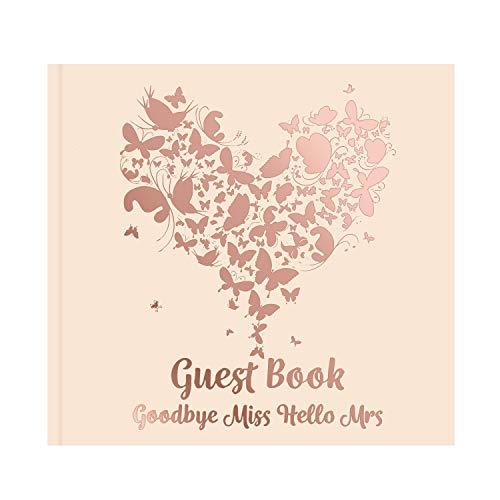 DealKits Gästebuch Hochzeit (128 Blanko Seiten), Junggesellenabschied Frauen Goldfoliengeprägtes...