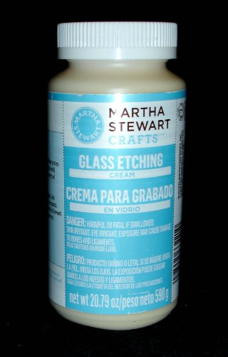 Martha Stewart Crafts Glass Etch Cream (20.79-Ounce),