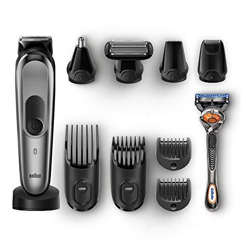Braun 10-in-1 All-in-one Beard Trimmer & Hair Clipper, Body Groomer, Black/grey