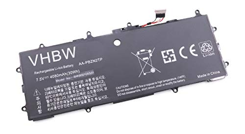 vhbw Batterie Compatible avec Samsung ATIV 500T, Book 9 Lite 910S3L, Smart PC Laptop (4080mAh, 7.5V, Li-Polymère)
