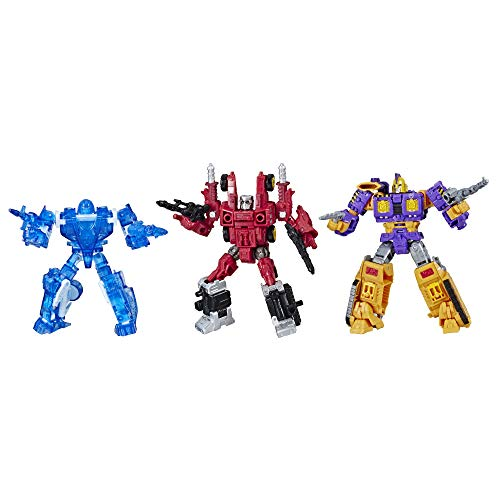 Transformers Toys Generations War for Cybertron Deluxe Fan-Vote Battle 3 Pack with Holo Mirage, Powerdasher Aragon, & Decepticon Impactor (Amazon Exclusive) Brown