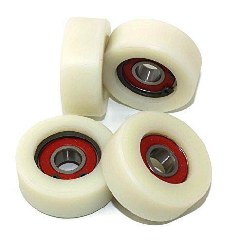 Nylon-Rollen 40-16-10, Polyamid, 40mm Durchmesser, 16mm breit, 10-mm-Lager, präzise gefertigt in der EU, 4Stück