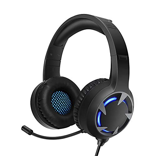 TURN RAISE Upgraded Stereo Gaming Headset for PS4, PC, Xbox One Controller, LED Light, Noise Cancelling Over Ear Headphones with Mic, PS4 Headset for Laptop, PC, Tablet, Smartphones