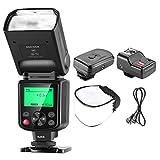 Neewer Pro i-TTL FlashDeluxe - Kit para Nikon DSLR D7100 D7000 D5300 D5200 D5100 D5000 D3200 D3100 D3300 D90 D800 D700 D300S D610 D600, Cámara SLR D4 D3S D3X D3 D200 N90S F5 F6 F100 F90 F90X D4S D